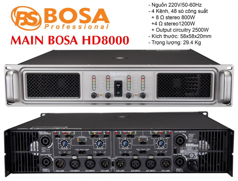 Main 4 Kênh Bosa HD-8000